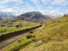The Cumbria Way Going Through Great Langdale In The English Lake District