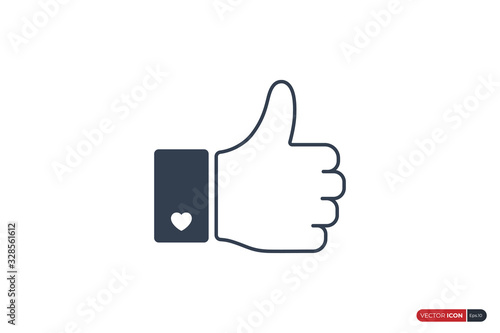 Photo Outline Hand Thumb Up Icon