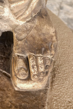 Close-up Of Foot In Sandal Wit...