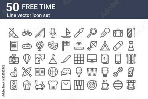 Foto set of 50 free time icons