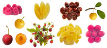 Set Of Berry Fruit Isolated On...