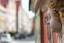 Golden Haired Cherub In Gdansk