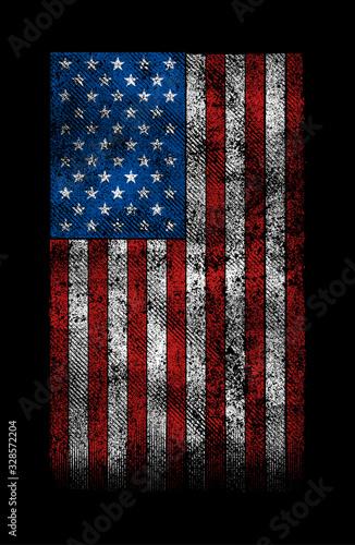 Fototapeta grunge usa flag vector design. obraz