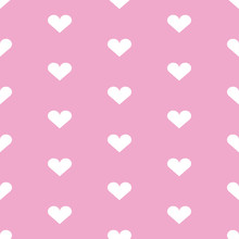 Seamless Background With Heart...
