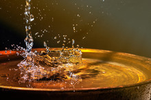 A Stream Of Water Flows Into T...