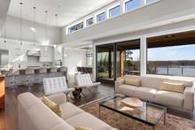 Beautiful Living Room And Kitc...