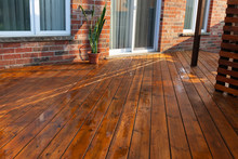 Backyard Wooden Deck Floor Boa...
