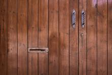 Detail Of Rustic Wooden Door W...
