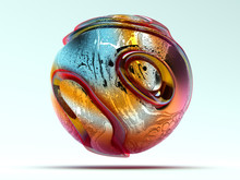 3d Render Of Abstract Art 3d B...