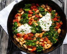 WHITE BEAN SHAKSHUKA WITH KALE