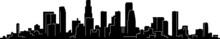 Los Angeles Skyline Silhouette...
