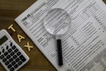 Tax Form 1040 SR Senior With M...
