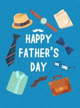 Happy Fathers Day Postcard Con...