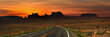 canvas print picture - Panoramic view of highway to Monument valley