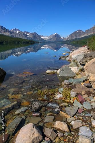 Fényképezés Scenic landscape of Many Glaciers in Glacier national park