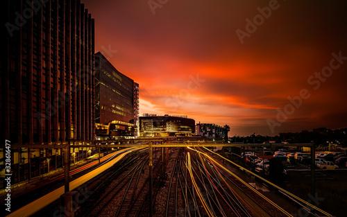 Photo Sunset at Adelaide CBD