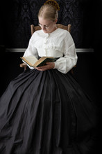 Victorian Woman Reading A Book...