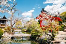 Kibitsu Uka Shrine At Spring In Okayama, Japan