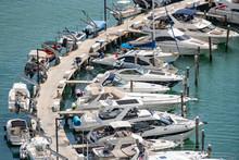 Many Boats At A Busy Miami Mar...