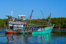 Thai Fishing Boat At Phangnga ...
