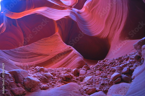 Photo antelope canyon vivid colors