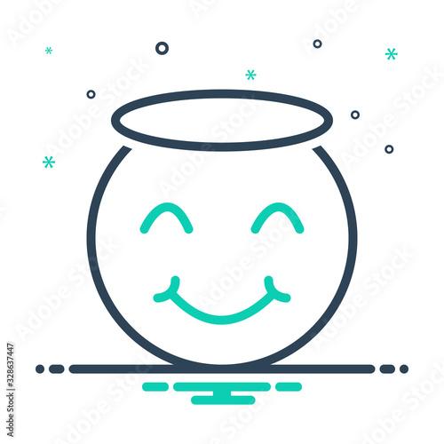 Mix icon for innocent Fototapet