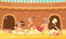 Roman Gladiators Illustration