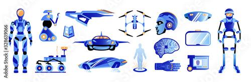 Future Technologies Color Set Poster Mural XXL