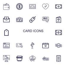 Editable 22 Card Icons For Web...
