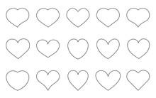 Heart Black Outline Love Valen...