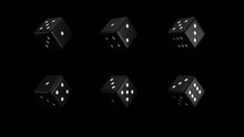 Black And White Dice On A Blac...
