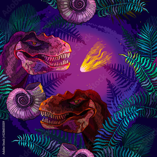 Asteroid that wiped out the dinosaurs Wallpaper Mural