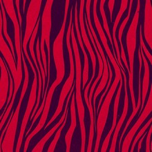 Bright Seamless Pattern With Red And Black Lines. Zebra Skin Style. Design For Print, Textile, Fabric.