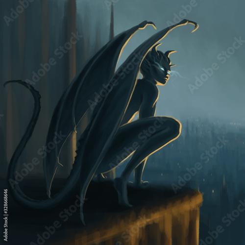 Slika na platnu Gargoyle