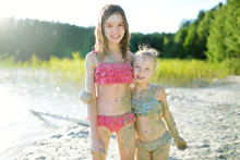 Two Young Sisters Taking Heali...