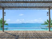 Empty Tropical Pool Terrace 3d...