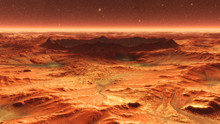Mars Planet Surface With Dust ...
