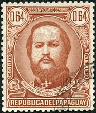 PARAGUAY - 1946: Shows Portrai...