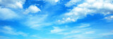 Fototapeta Na sufit - Sunny background, blue sky with white cumulus clouds
