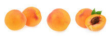 Peaches Isolated On White Back...