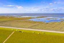 Aerial View Sea Dike National ...