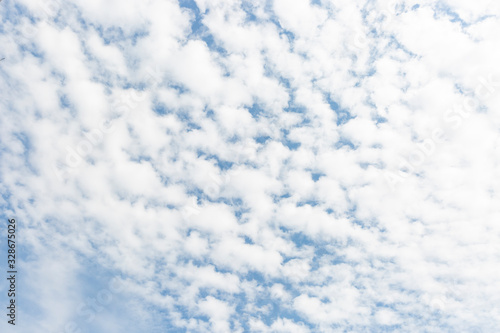 background of a sky with Altocumulus clouds Canvas Print