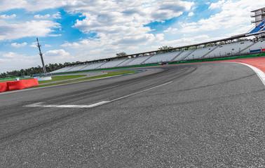 motorsport arena closeup curve backplate