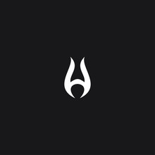Letter H Fire Abstract Logo Ic...