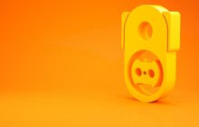 Yellow Electrical Outlet Icon ...