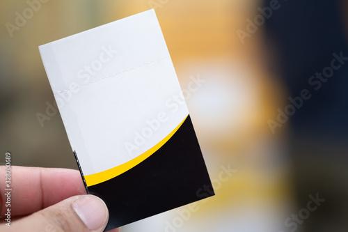 Hand holding cinema tickets. Canvas Print