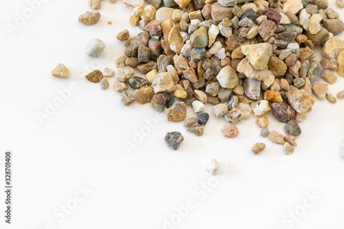 Obraz 沢山の小さい石ころ、小石 - fototapety do salonu