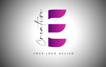 Creative Letter E Logo With Pu...