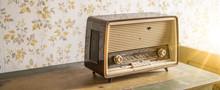 Old Retro Vintage Radio On A A...