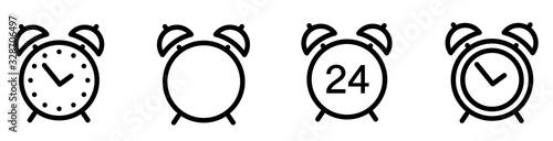Fototapeta Alarm clock icon. Line style - stock vector. obraz